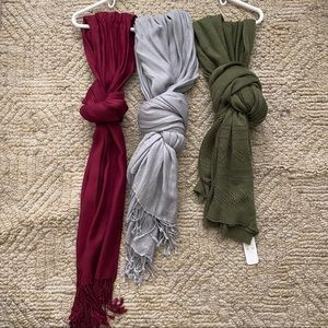 Fall knit warp Scarf bundle